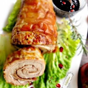 Роловано свинско месо - Porchetta