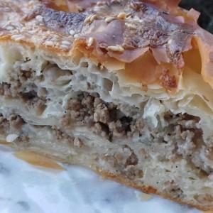 Пита-бурек со мелено месо
