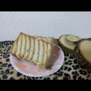 Зебра колач со бисквити (без печење)