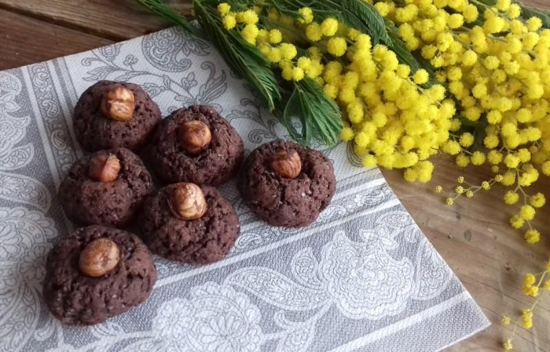 Какао кекси со зрна лешник