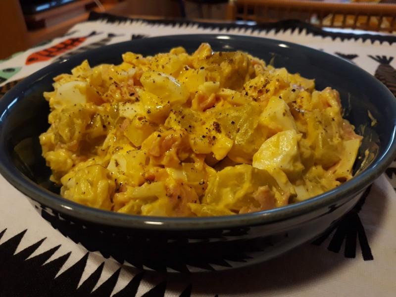 Крем салата со благ компир