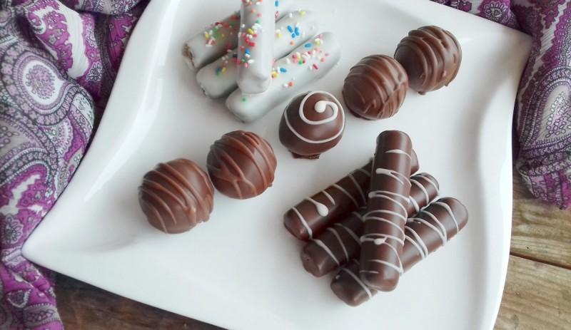Чоколадни-лешник стапчиња или бомбици