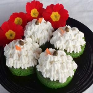 Зелено бели солени тортици