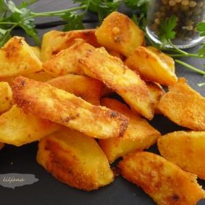 Печен крцкав  компир со пченкарно брашно