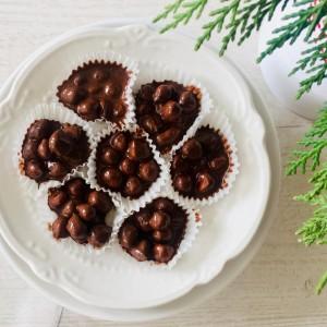 Чоколадирани лешници со инстант кафе