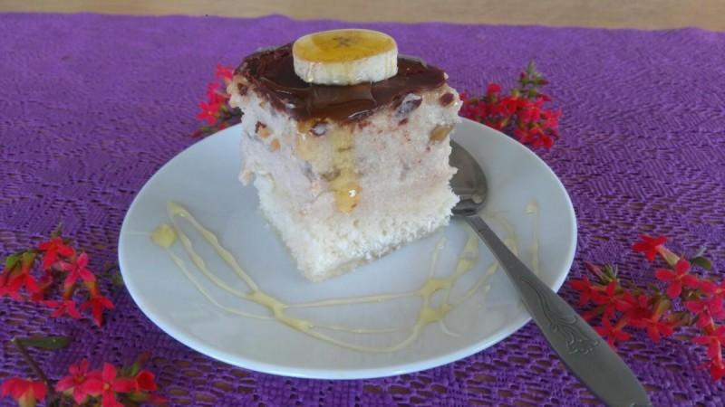 Колач со кокос и банани (посно, без брашно)