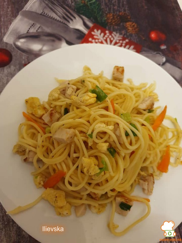 Шпагети на Азиски начин
