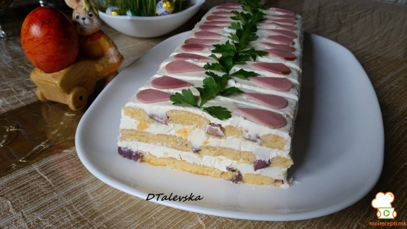 Солена торта со варени јајца