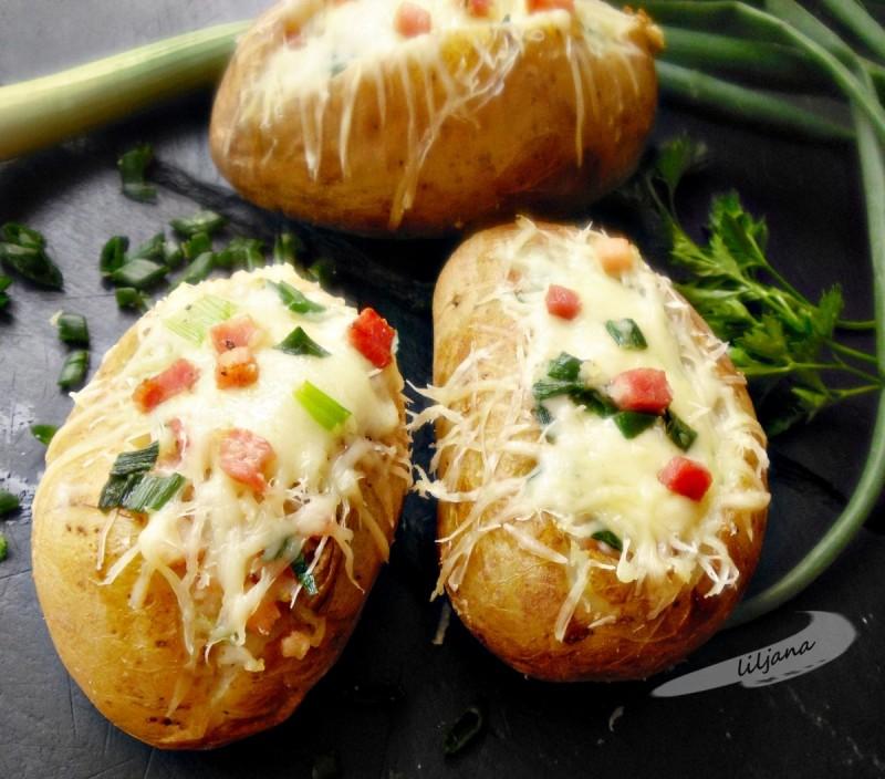 Запечен полнет компир