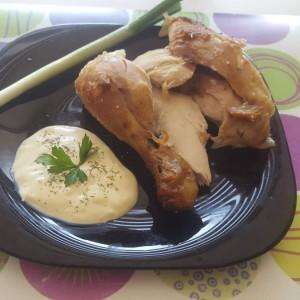 Миризливо печено пиле под фолија