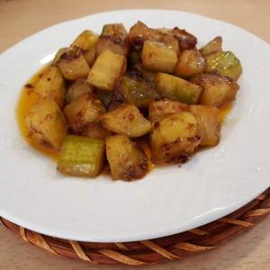 Пржени тиквички во теријаки сос