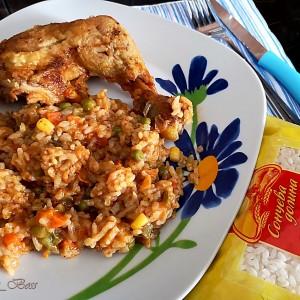 Црвен ориз со копани и златна мешавина