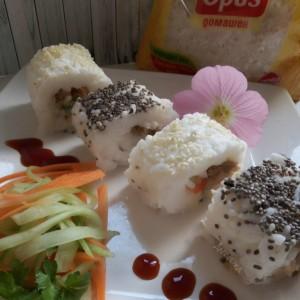 Суши од ориз со туна и кашкавал