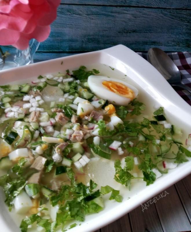 Ладна супа Окрошка со квас