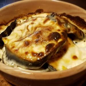 Потпечен црн патлиџан во павлака за готвење