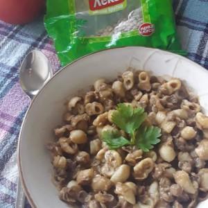 Супа од зелена леќа и макарони
