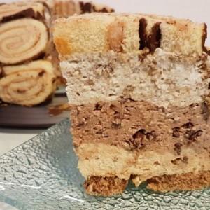 Кремаста Винчини торта со 3 фила (без печење)