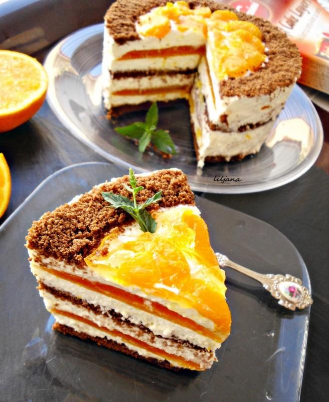 Летен десерт со готови кори