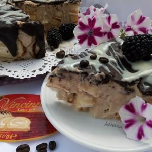 Торта со Винчини ролат и кафе (без печење)