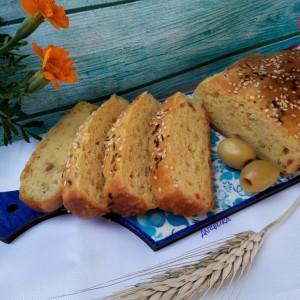 Лепче со пченкарно брашно, оригано и маслинки