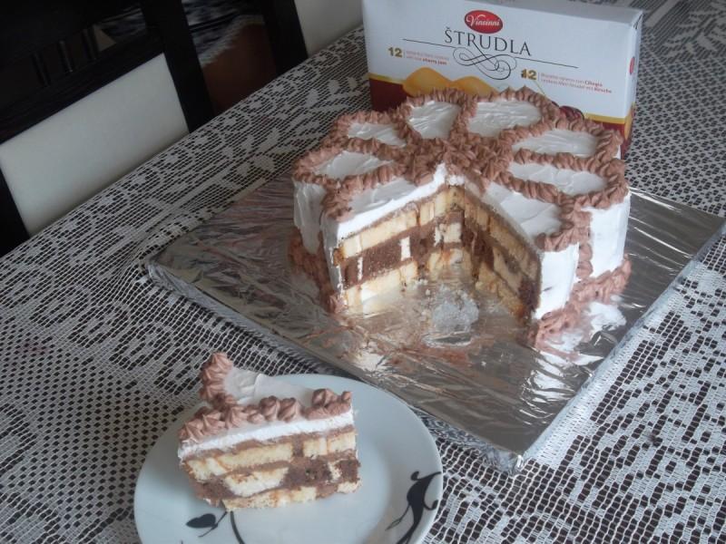 Торта Цвет од ролатите на Винчини (без печење)