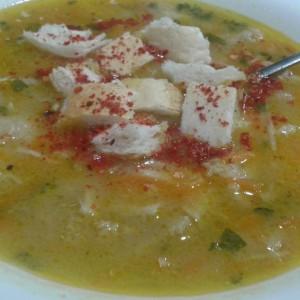 Телешка шкембе чорба со супа од телешка коска