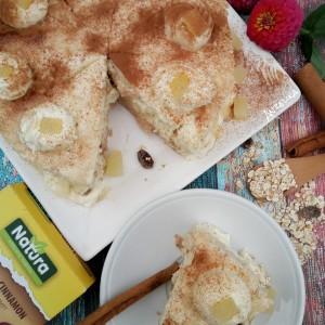 Торта со овесен оброк и ананас (без печење)