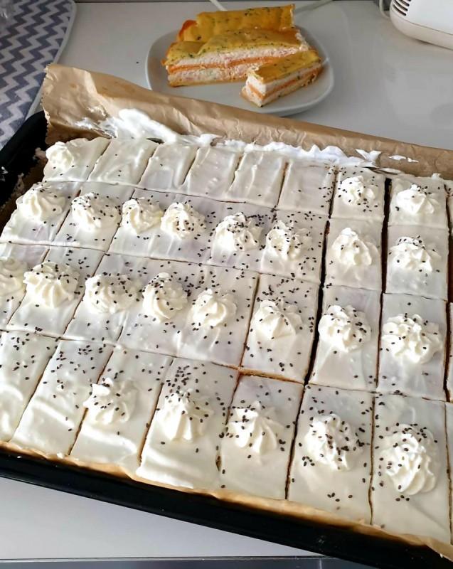 Солена торта во 3 бои