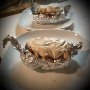 Печени компири во алуминиумска фолија на германски начин