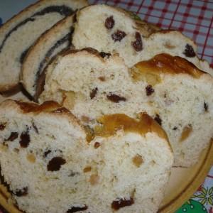 Сладок млечен леб со суво овошје