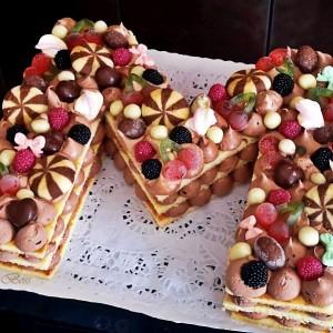 Брза инстант алфабет торта (без печење, без варење)