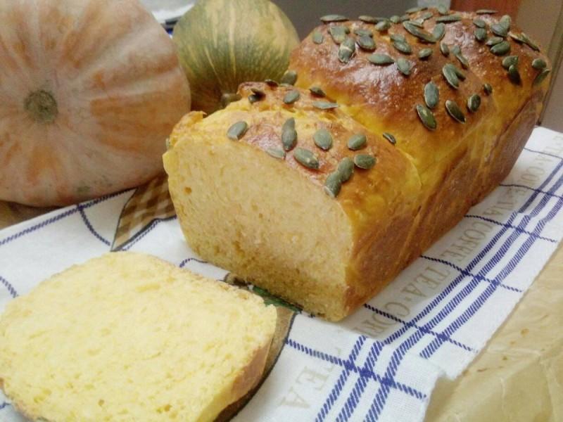 Тиквен леб со стартер Тангзхонг