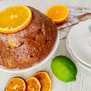 Овошна торта со цитруси (без печење)