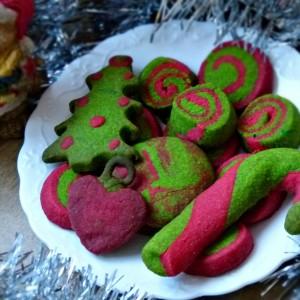 Шарени Божиќни колачиња