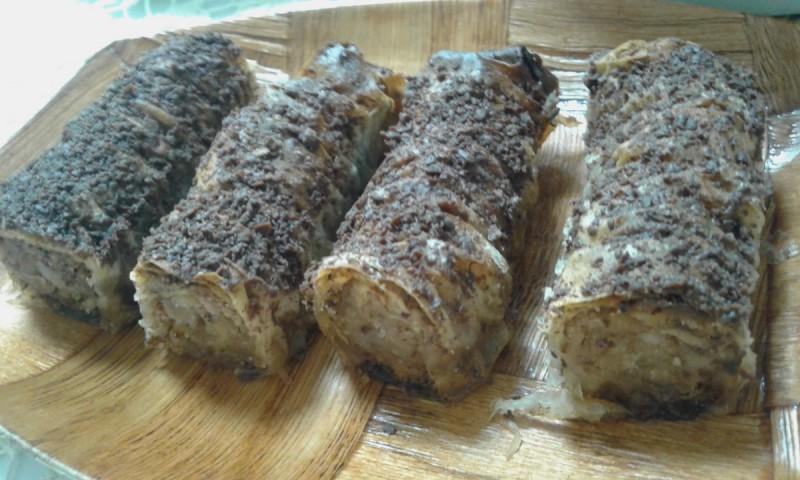 Набрана баклава со мелени бисквити (посно)