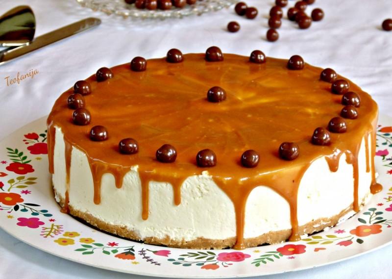 Млечна крем карамел торта (без печење)