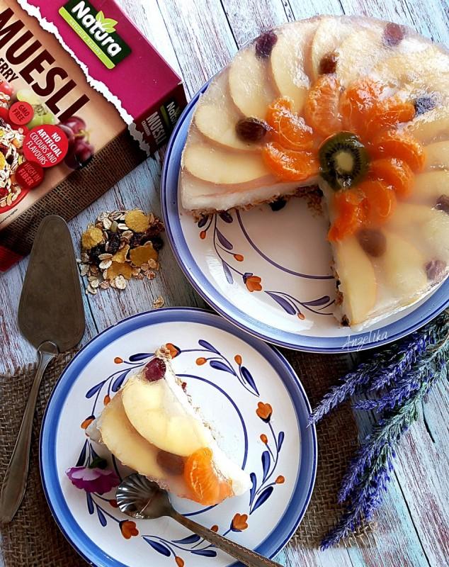 Овошна торта со мусли (посно)