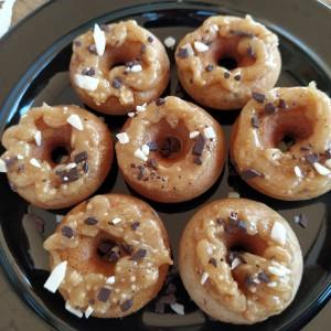 Мини крофнички со фил од путер од кикирики (посно, апарат за крофни)