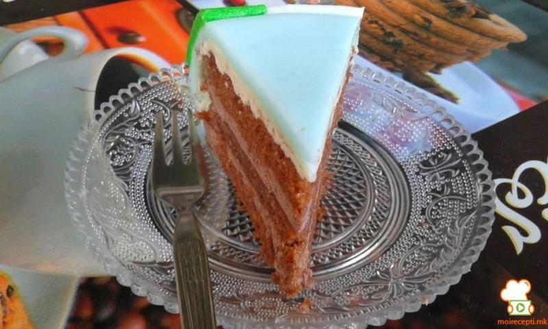 Чоколадна торта со пудинг и чоколаден крем