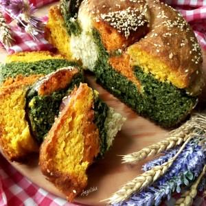 Шарен леб со зеленчук