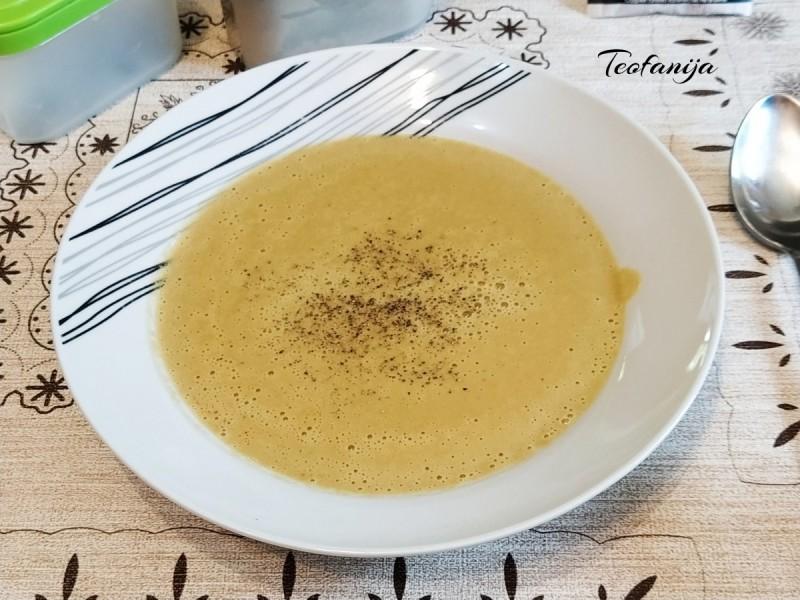 Супа со печурки и просо (подготвена во Мултифреш вакум блендер)