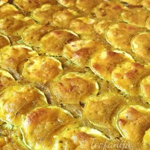 Печени тиквички со куркума (посно)