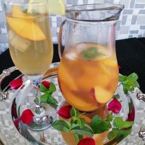 Домашен леден чај од праски