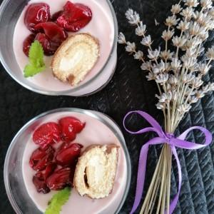 Вишна десерт во  чаша