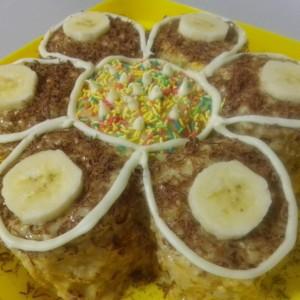 Торта цвет (со банана и таан алва)