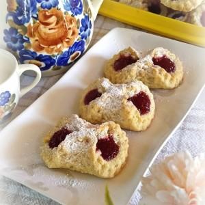 Панделки со џем од малини (посно, веган)