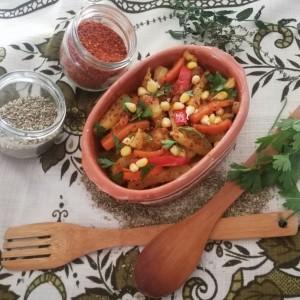 Веганска тава со зеленчук со Дм Био маслиново масло