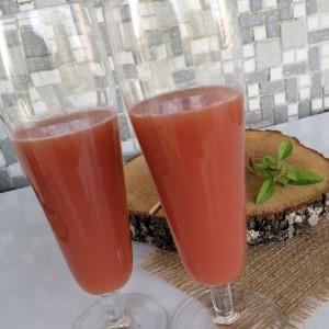 Летно смути со грозје, лубеница и лимон
