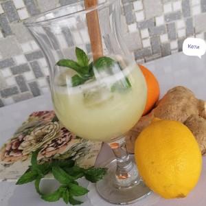 Лимонада со ѓумбир и нане