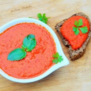 Намаз со црвени пиперки (сурово, веган, посно)